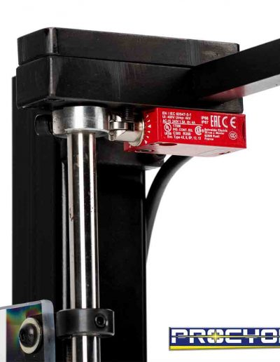 Drill press guard safety switch