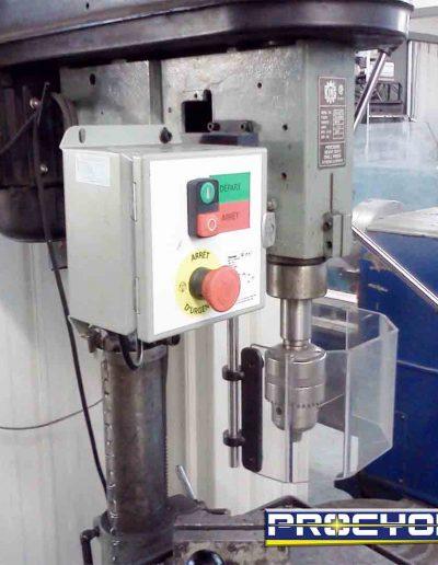 Drill press guard on press drill
