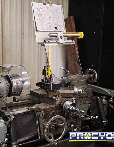 lathe carriage guard on machine tool
