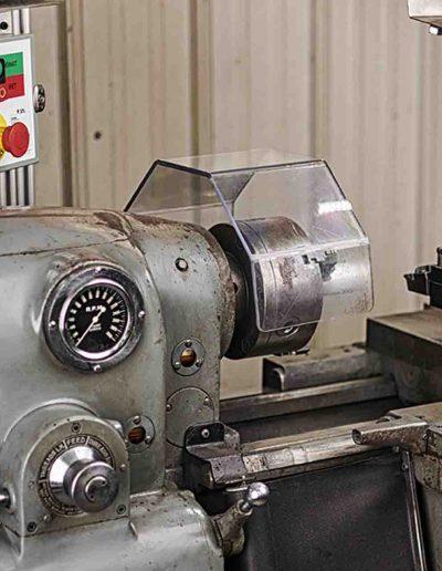 lathe chuch guard instaled on machinetool lathe