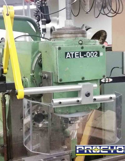 milling guard safety instaled on green milling machine